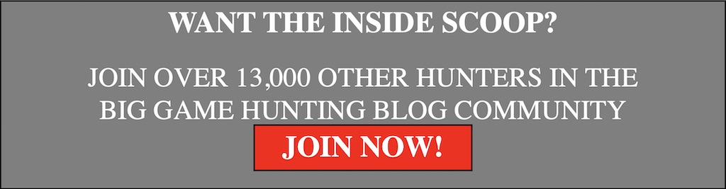 big game hunting blog email sign up