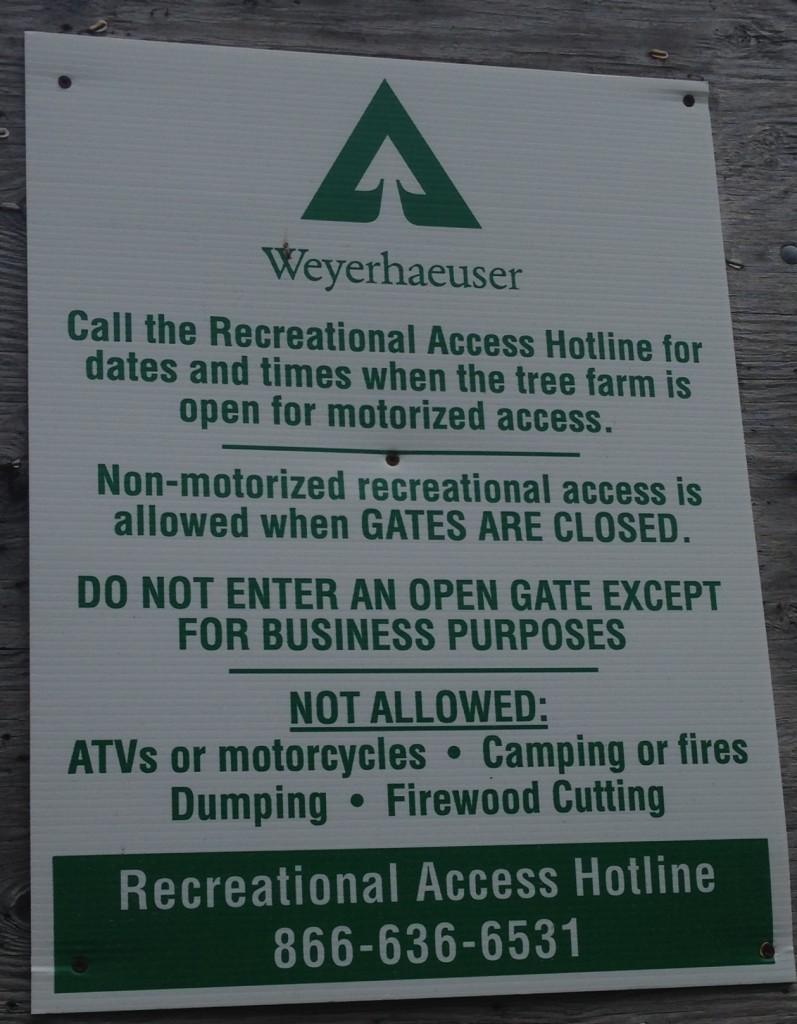 Weyerhaeuser Access Permits