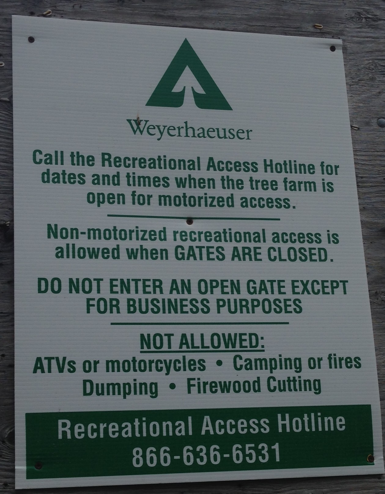 Weyerhaeuser Access Permits | Big Game Hunting Blog