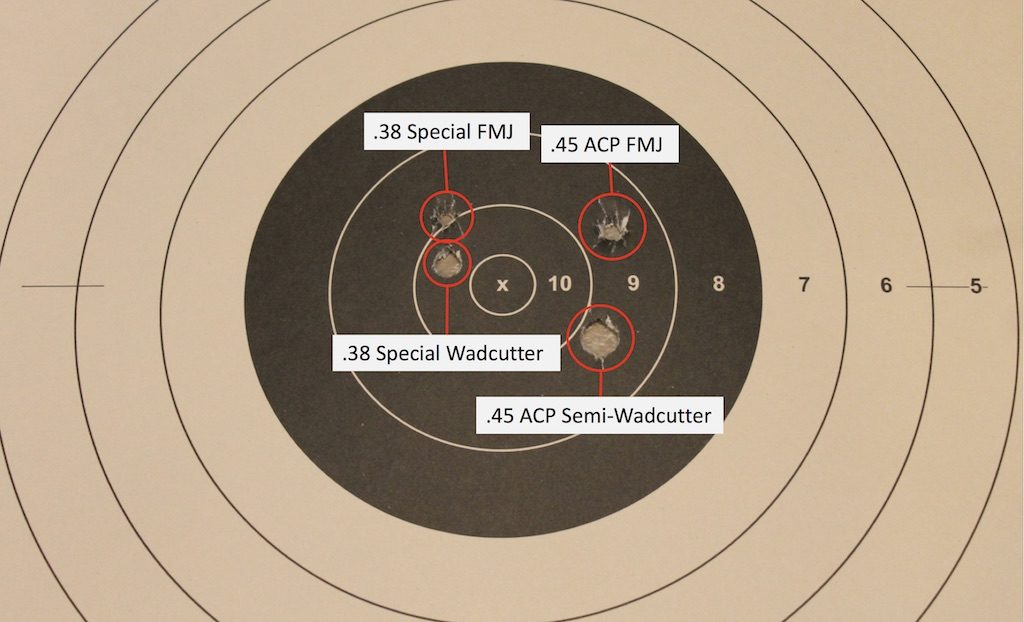 what is a wadcutter bullet target comparison