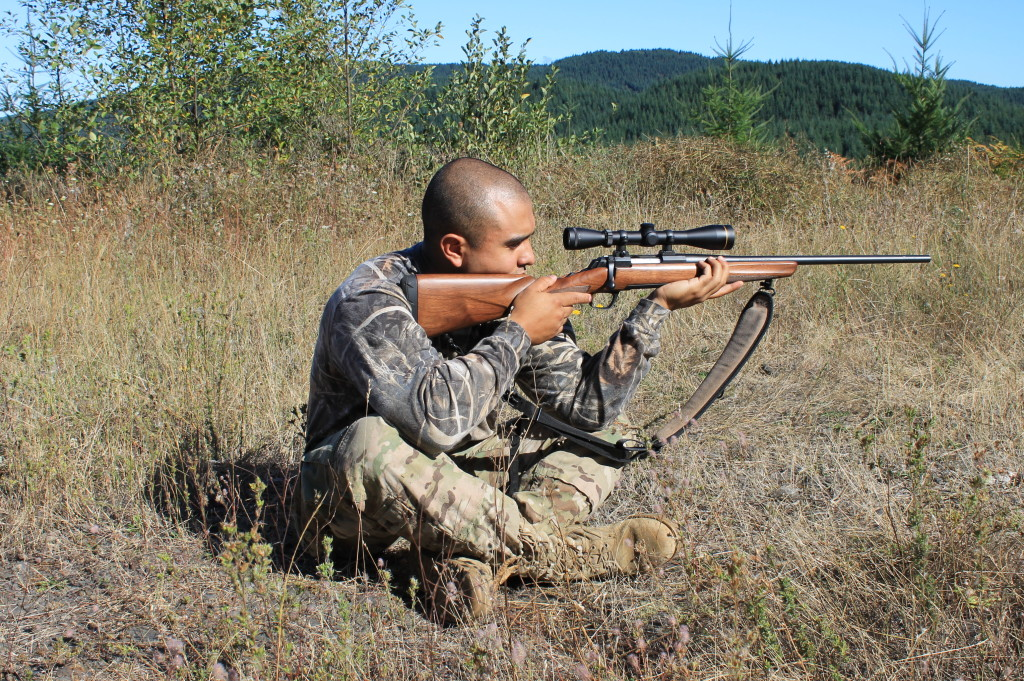 best hunting shooting positions sitting