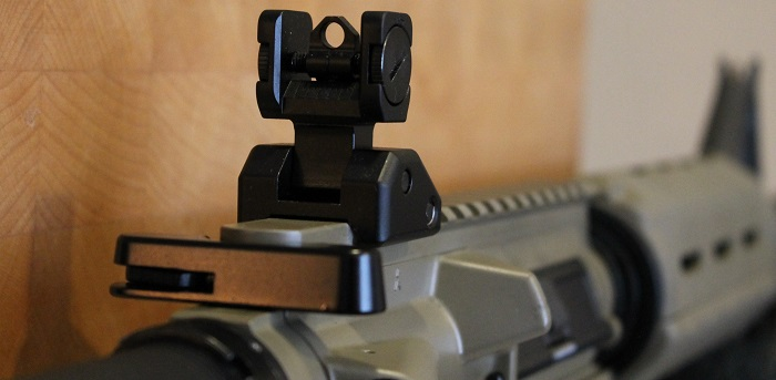 how to zero the back up iron sights on an AR-15 featured