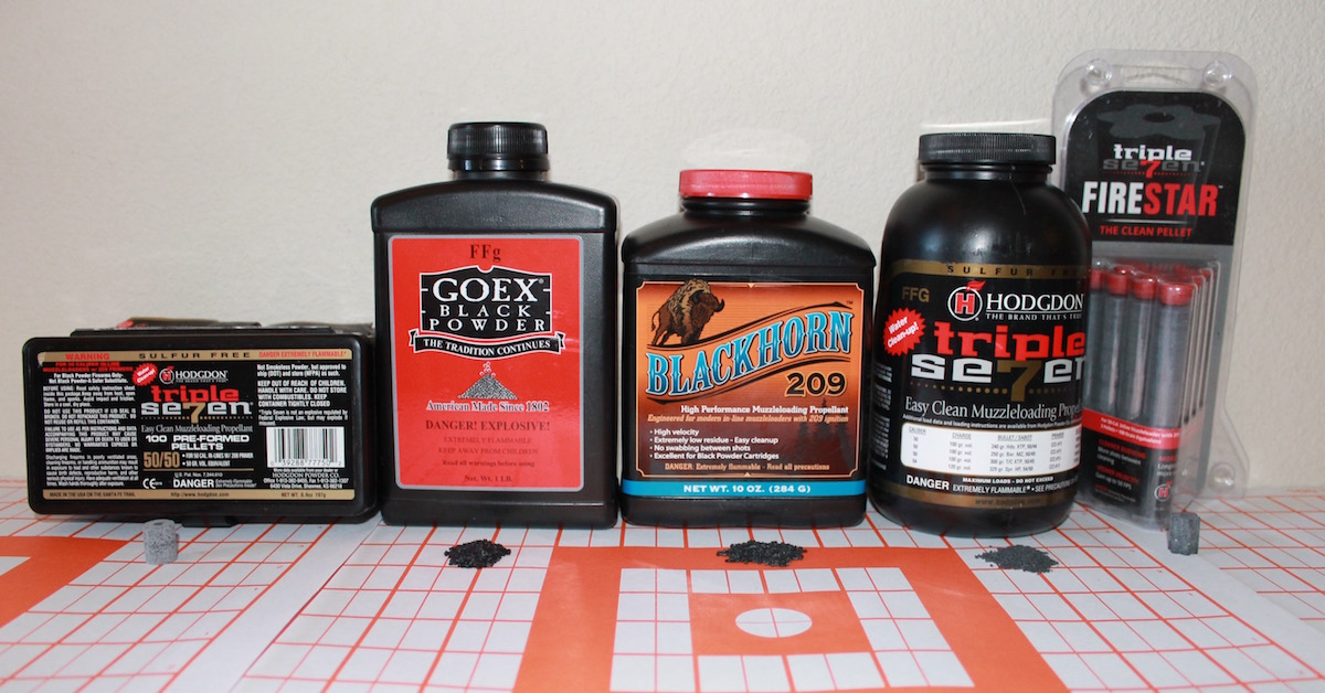 blackhorn 209 vs 777 vs goex black powder 1
