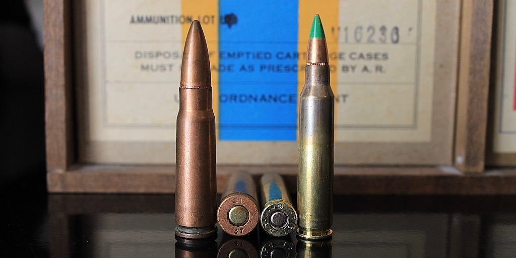 photo of 223/5.56 vs 7.62x39mm diameter
