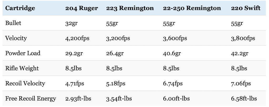 22-250 vs 223 vs 204 Ruger vs 220 Swift: Clash Of The Speed Demons