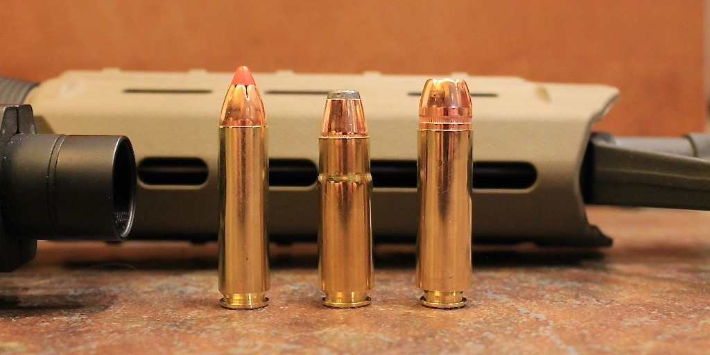 picture of 450 Bushmaster vs 458 SOCOM vs 50 Beowulf