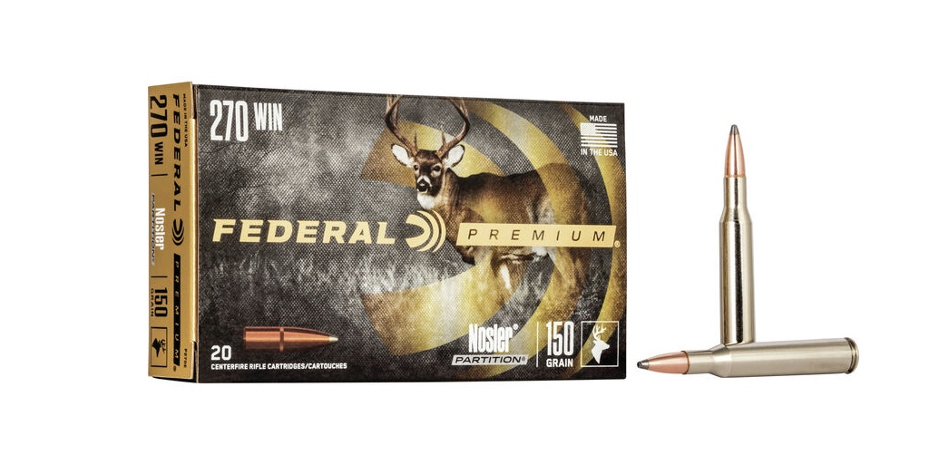 picture of best 270 ammo for deer and elk nosler partition