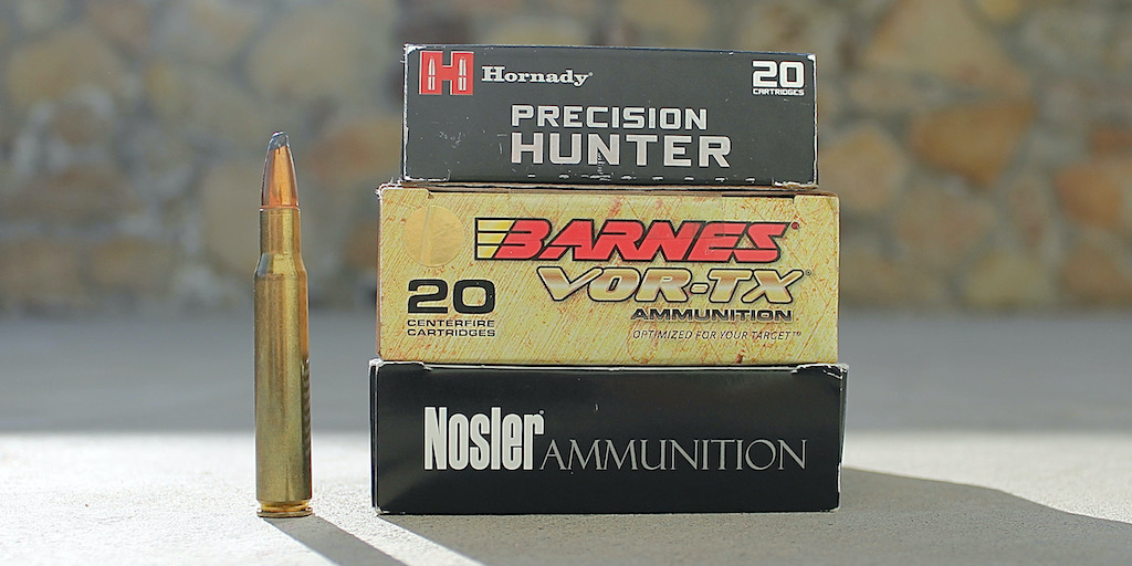 picture of best 30-06 ammo for hunting elk deer hogs and bear featured