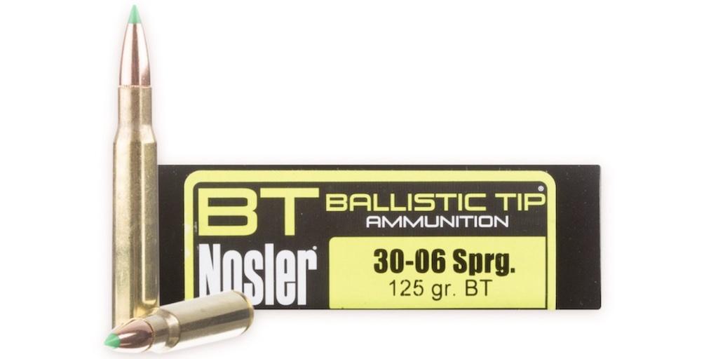 picture of best 30-06 ammo for hunting elk deer hogs bear noser ballistic tip