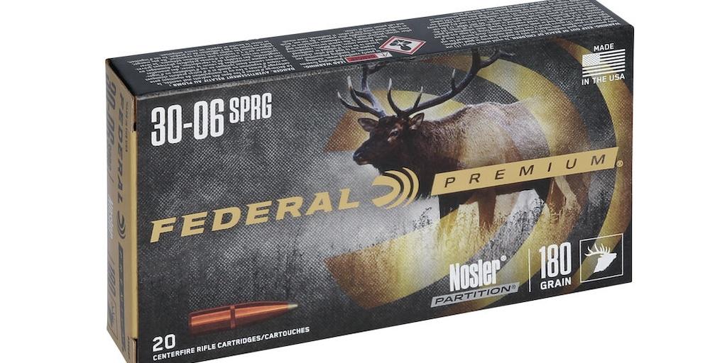picture of best 30-06 ammo for hunting elk deer hogs bear nosler partition