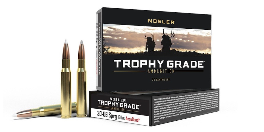 picture of best 30-06 ammo for hunting elk deer hogs bear nosler trophy grade
